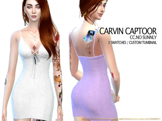 Sims 4 NO Sunnly dress by carvin captoor at TSR