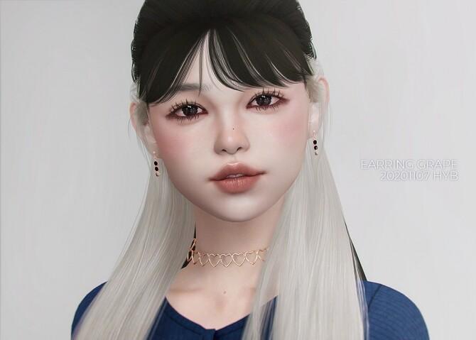 Sims 4 GRAPE EARRINGS at Hayanbom