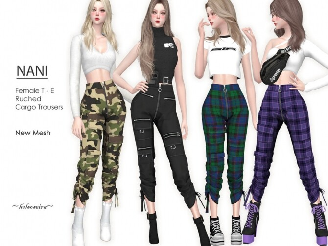 NANI Cargo Trousers by Helsoseira at TSR image 119 670x503 Sims 4 Updates