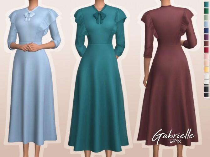 Sims 4 Gabrielle Dress by Sifix at TSR