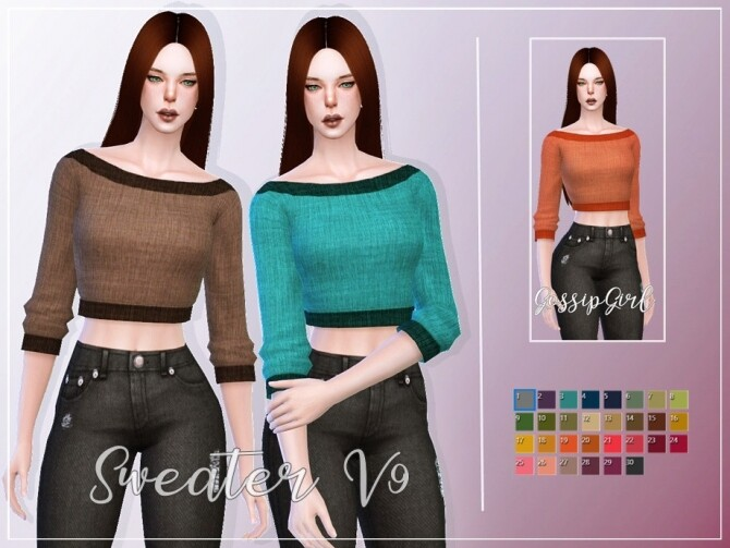 Sims 4 Sweater V9 by GossipGirl S4 at TSR