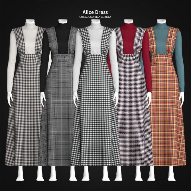 Alice Dress at Gorilla image 1194 670x670 Sims 4 Updates