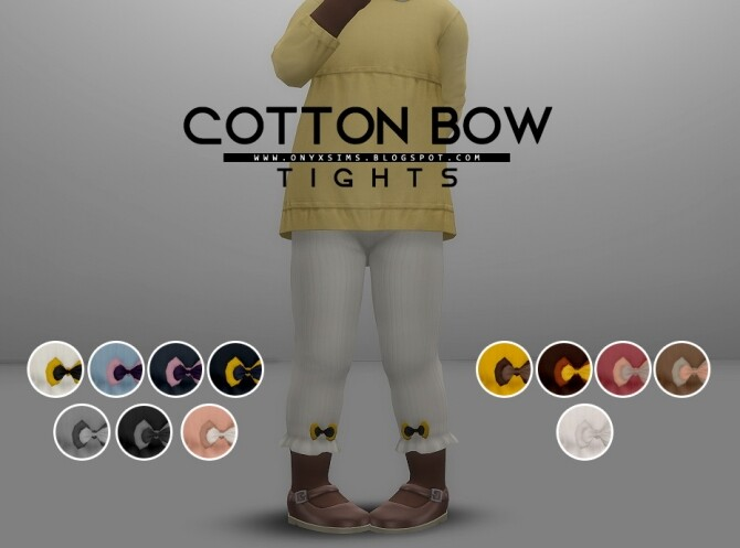 Sims 4 Cotton Bow Tights at Onyx Sims