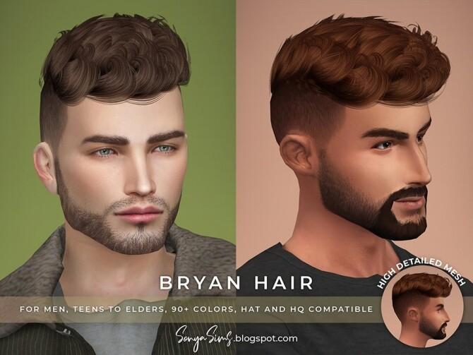 Sims 4 Bryan Hair by SonyaSimsCC at TSR