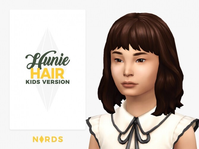 Sims 4 Hunie Hair for Kids by Nords at TSR