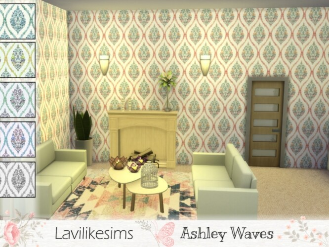 Ashley Waves Wallpaper by lavilikesims