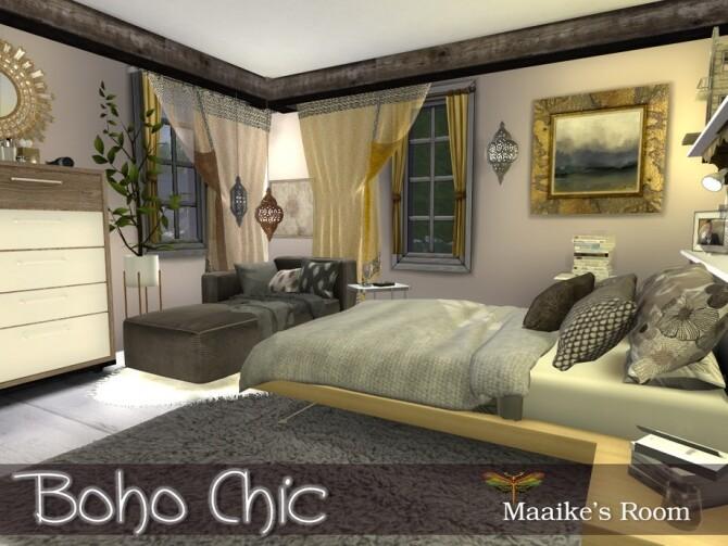 Boho Chic Maaikes Bedroom by fredbrenny at TSR image 1226 670x503 Sims 4 Updates