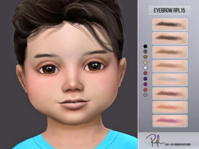 Sims 4 Eyebrow RPL15 by RobertaPLobo at TSR
