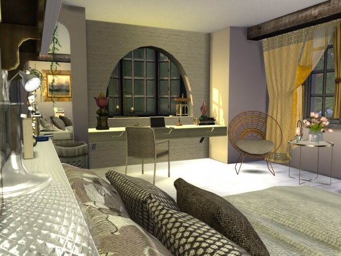 Boho Chic Maaikes Bedroom by fredbrenny at TSR image 1236 670x503 Sims 4 Updates
