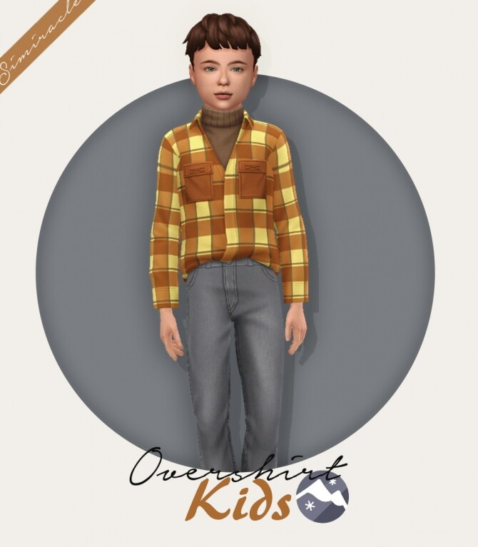 Sims 4 Overshirt Kids Version at Simiracle