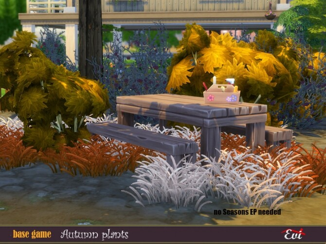 Sims 4 Autumn plants by evi at TSR