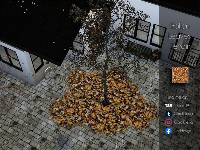 Sims 4 Fallen Leaves Terrain by Caroll91 at TSR