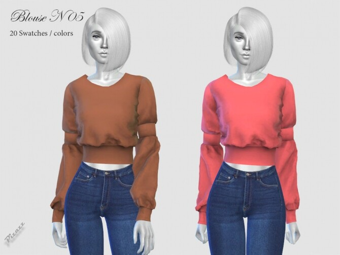Sims 4 BLOUSE N 05 by pizazz at TSR