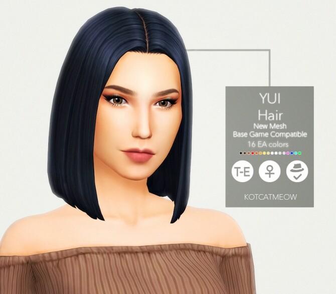 Sims 4 Yui Hair REMAKE at KotCatMeow
