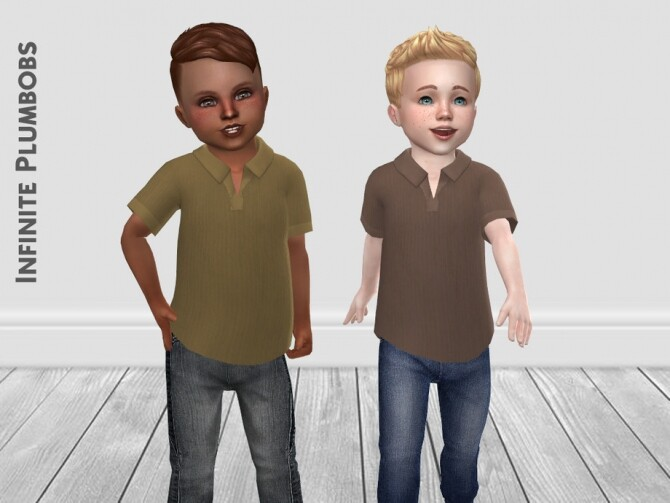 IP Toddler Autumnal Polo Shirt by InfinitePlumbobs at TSR image 12712 670x503 Sims 4 Updates
