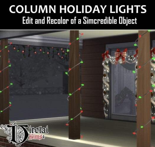 Column Holiday Lights