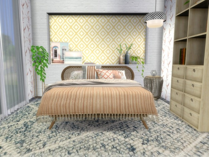 Sims 4 Pastel Neutrals Bedroom by A.lenna at TSR