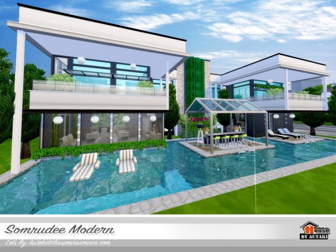 Somrudee Modern Home by autaki at TSR image 1281 670x503 Sims 4 Updates