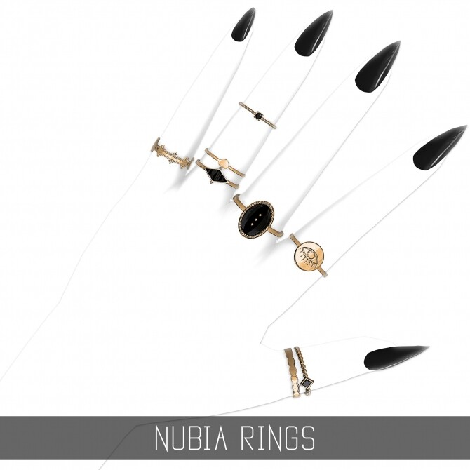Sims 4 NUBIA RINGS at Simpliciaty