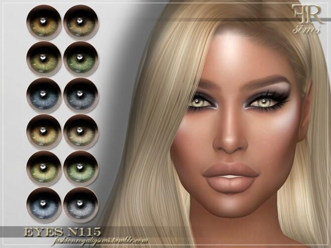 Sims 4 FRS Eyes N115 by FashionRoyaltySims at TSR
