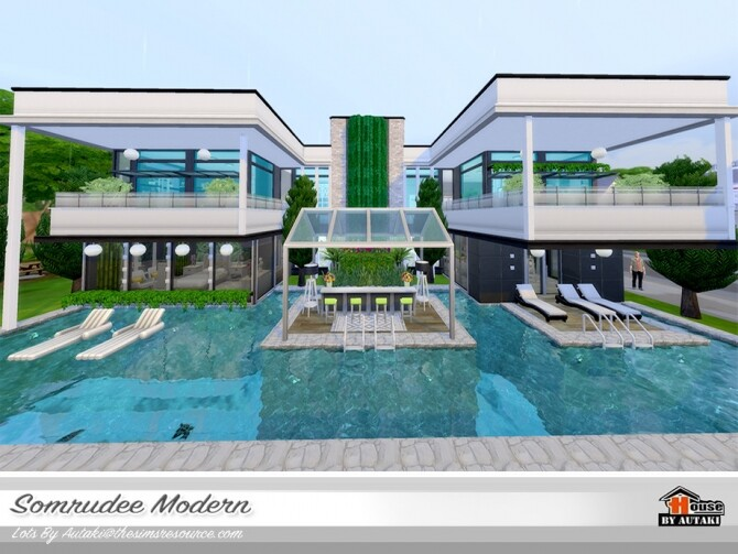 Somrudee Modern Home by autaki at TSR image 1291 670x503 Sims 4 Updates