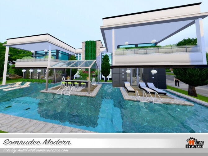 Somrudee Modern Home by autaki at TSR image 1301 670x503 Sims 4 Updates