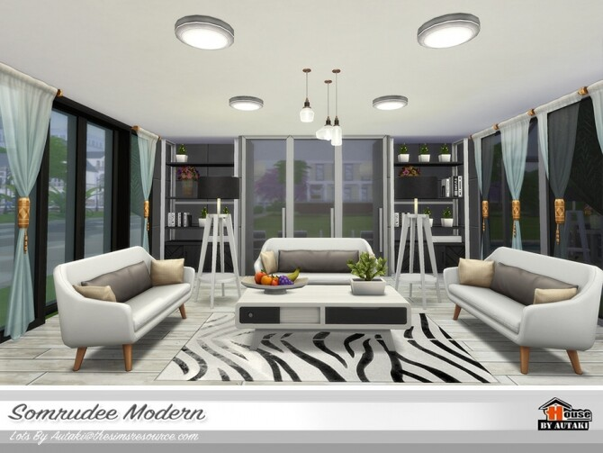 Somrudee Modern Home by autaki at TSR image 1311 670x503 Sims 4 Updates
