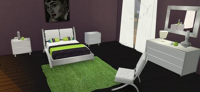 Sims 4 Cara Bedroom at LIZZY SIMS