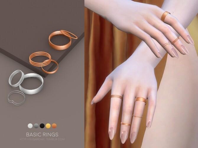 Sims 4 Basic rings by sugar owl at TSR