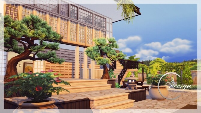 Sims 4 Japanese Luxury House at Cross Design