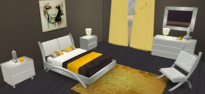 Cara Bedroom at LIZZY SIMS image 1339 670x307 Sims 4 Updates