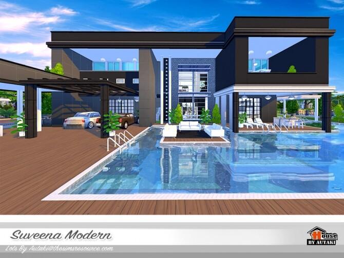 Sims 4 Suveena Modern Villa by autaki at TSR