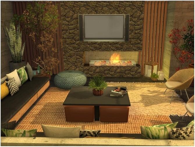 Sims 4 Tropical Livingroom by lotsbymanal at TSR