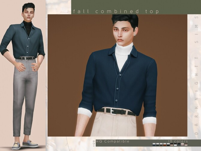 Sims 4 Fall Combined Top by DarkNighTt at TSR