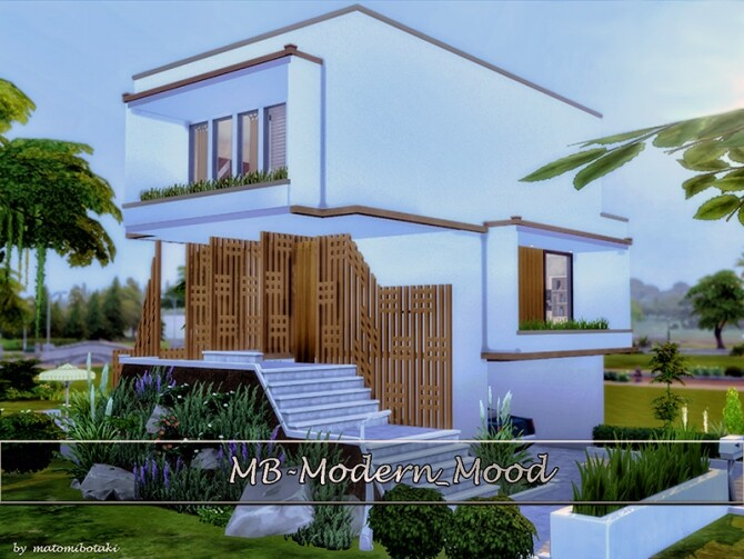 MB Modern Mood house by matomibotaki at TSR image 1394 670x503 Sims 4 Updates