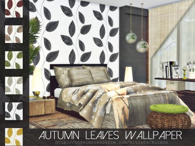 Sims 4 Autumn Leaves Wallpaper by Rirann at TSR