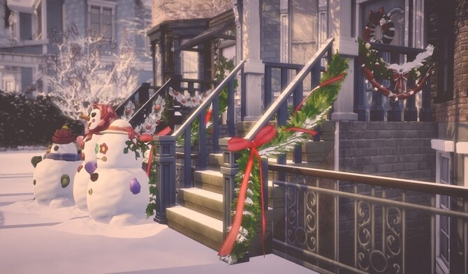 Sims 4 Holiday Garlands for Staircase Rail at Garden Breeze Sims 4