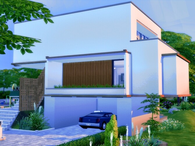 MB Modern Mood house by matomibotaki at TSR image 1404 670x503 Sims 4 Updates