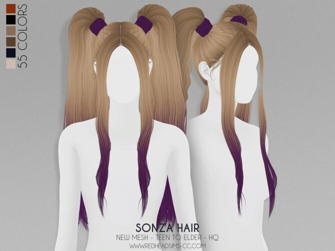 Sims 4 SONZA HAIR + KIDS AND TODDLER VERSION at REDHEADSIMS