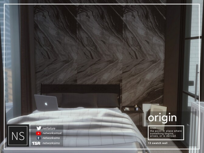 Sims 4 Origin Marble Walls by Networksims at TSR