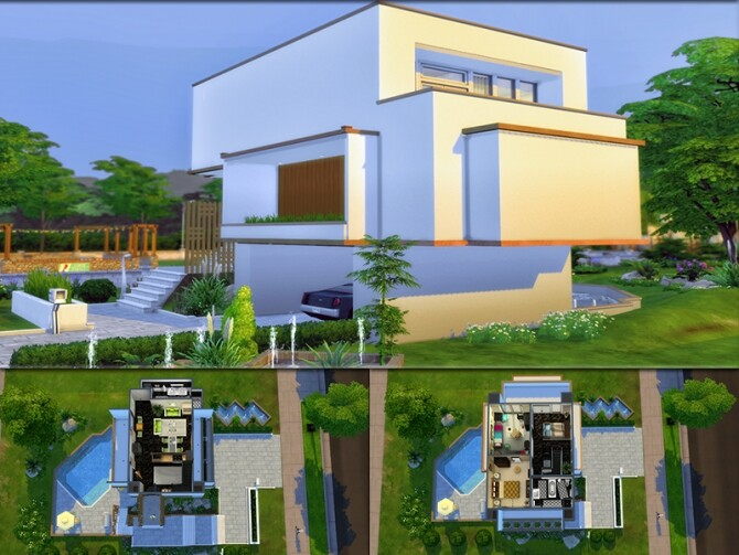 MB Modern Mood house by matomibotaki at TSR image 1419 670x503 Sims 4 Updates