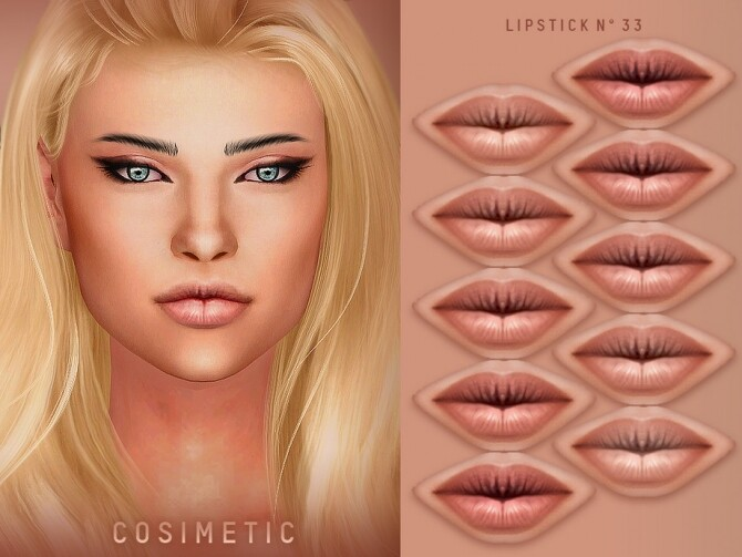 Sims 4 Lipstick N33 by cosimetic at TSR