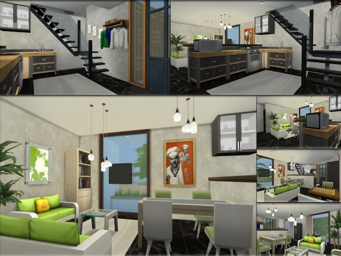 MB Modern Mood house by matomibotaki at TSR image 1424 670x503 Sims 4 Updates