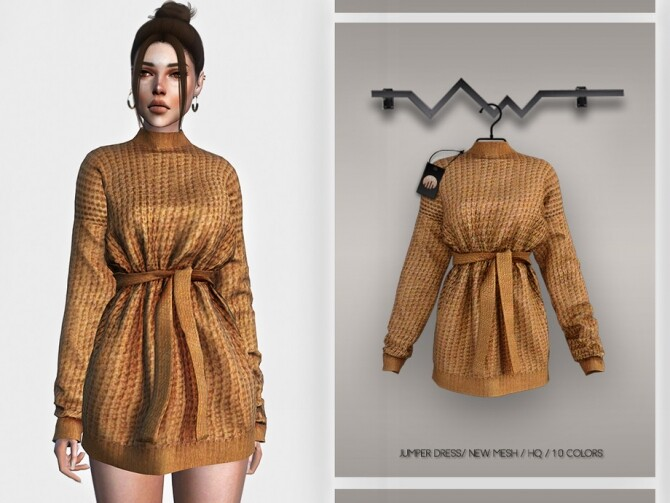 Sims 4 Jumper Dress BD359 by busra tr at TSR