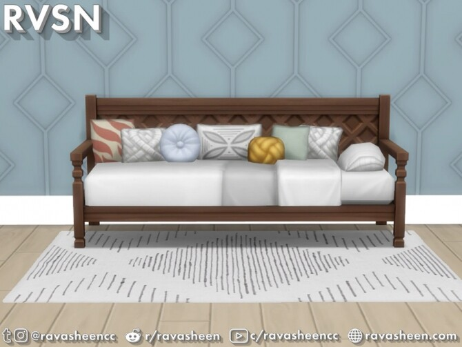 Bedder Than A Couch Daybed Frames by RAVASHEEN at TSR image 144 670x503 Sims 4 Updates