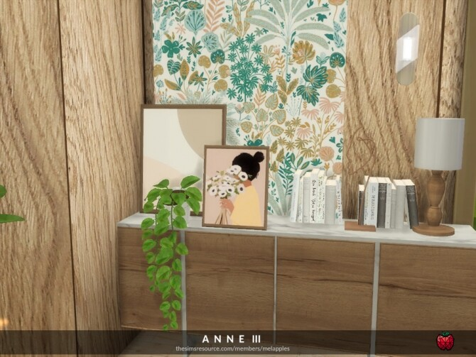 Sims 4 Anne living room by melapples at TSR