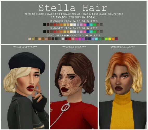 STELLA HAIR short wavy bob