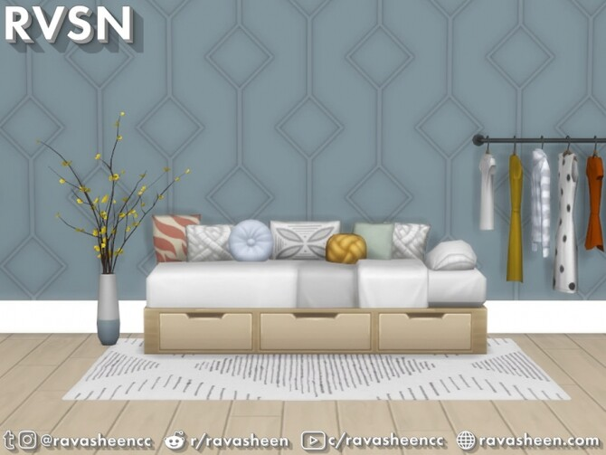 Bedder Than A Couch Daybed Frames by RAVASHEEN at TSR image 146 670x503 Sims 4 Updates