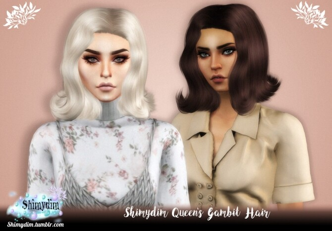 Sims 4 Queens Gambit Hair at Shimydim Sims