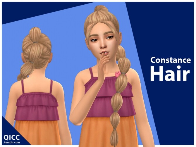 Sims 4 Constance Hair by qicc at TSR